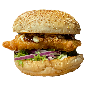 Foto Asian chicken burger